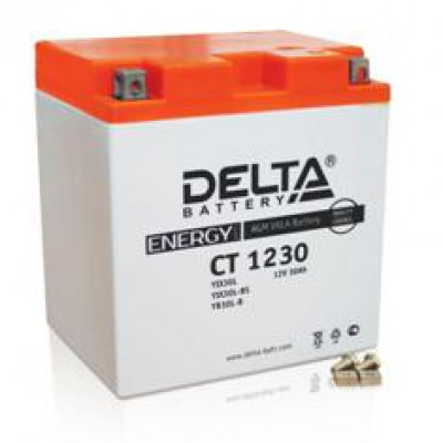 Аккумулятор Delta (12 В, 30 А●ч, 166x126x175 мм)