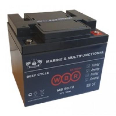 Основной аккумулятор WBR MB50-12 (12 В, 50 А●ч)