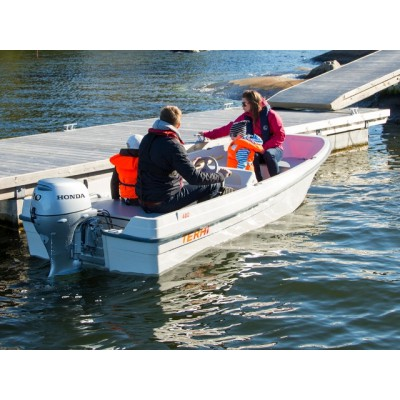 Пластиковая лодка Terhi 400C (консоль, 4,01 м)