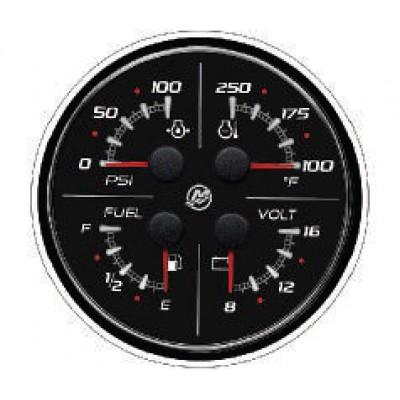 """Указатель SC100 """"4-в-1"""": вольтметр, давление и тем-ра масла, уровень топлива"""