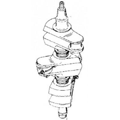 Коленчатый вал для Mercury 75, 90 (2Т, 3-цил.)