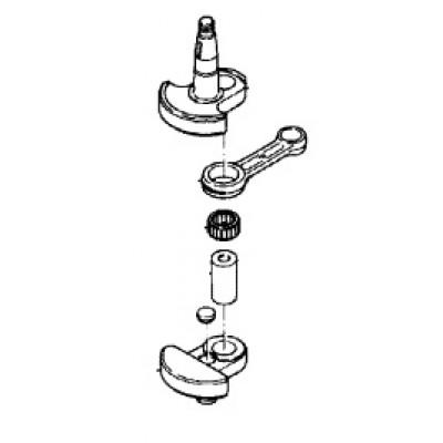 Коленчатый вал для Mercury 4, 5 (2Т)