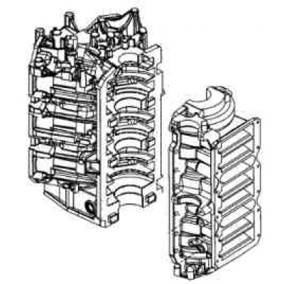 Блок цилиндров для Mercury 200 DFI / EFI