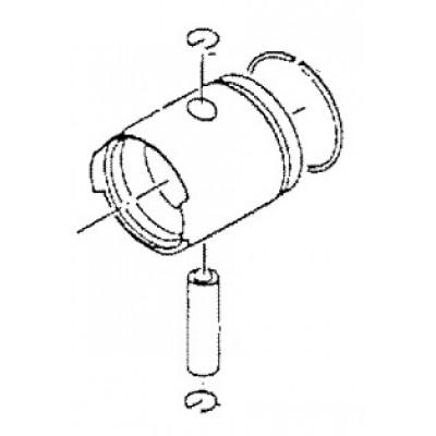 Поршень в сборе, стандарт, Mercury 2,5 - 3,3 (2T)