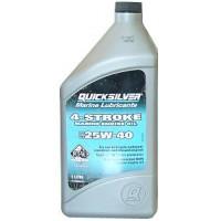 Минеральное масло Quicksilver 25W-40 для бензиновых двигателей MerCruiser, 1 л
