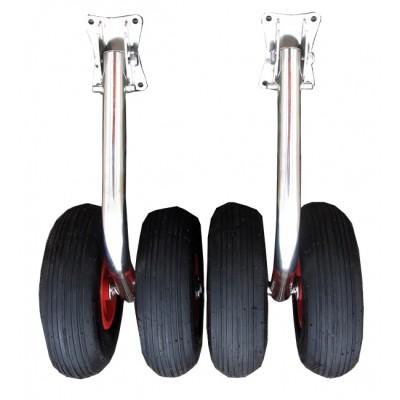 Колеса двойные для ПВХ-лодки более 3,6 м (450 мм)