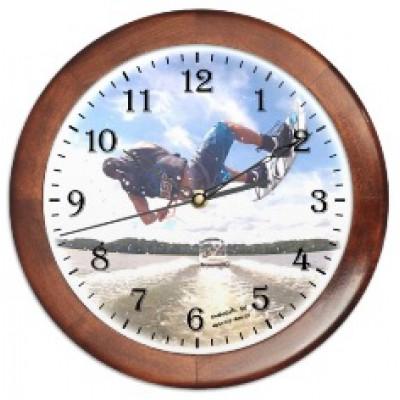 Часы настенные с принтом, круглые