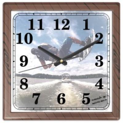 Часы настенные с принтом, квадратные