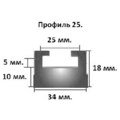 Склиз гусеницы Yamaha VK 540 IV, Viking Prof, профиль 25 (черный)