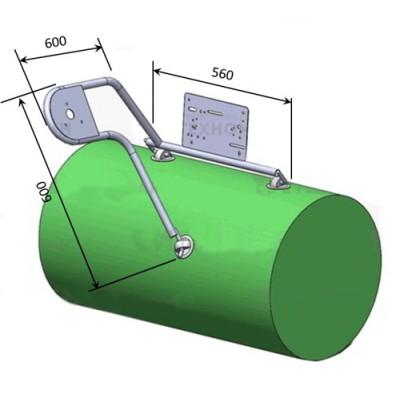 Рулевая консоль боковая (для крепления на баллон), 25 мм