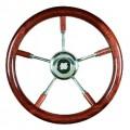 Рулевое колесо, красное дерево, 350 мм